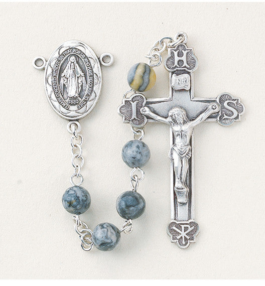 round_lime_stone_sterling_rosary