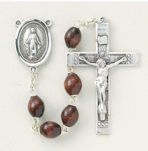 maroon_oval_sterling_rosary
