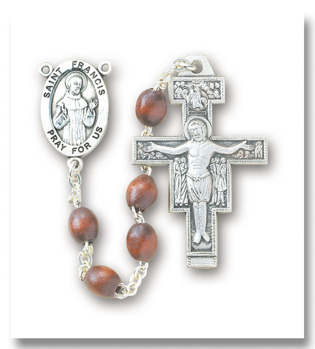 franciscan_brown_oval_sterling_rosary
