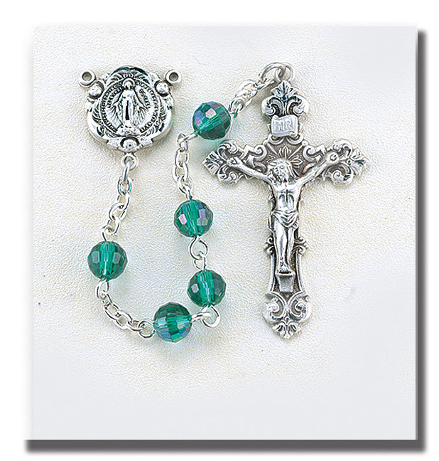 emerald_tin_cut_sterling_rosary