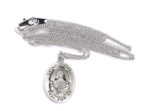St. Abigail Sterling Silver Oval Medal