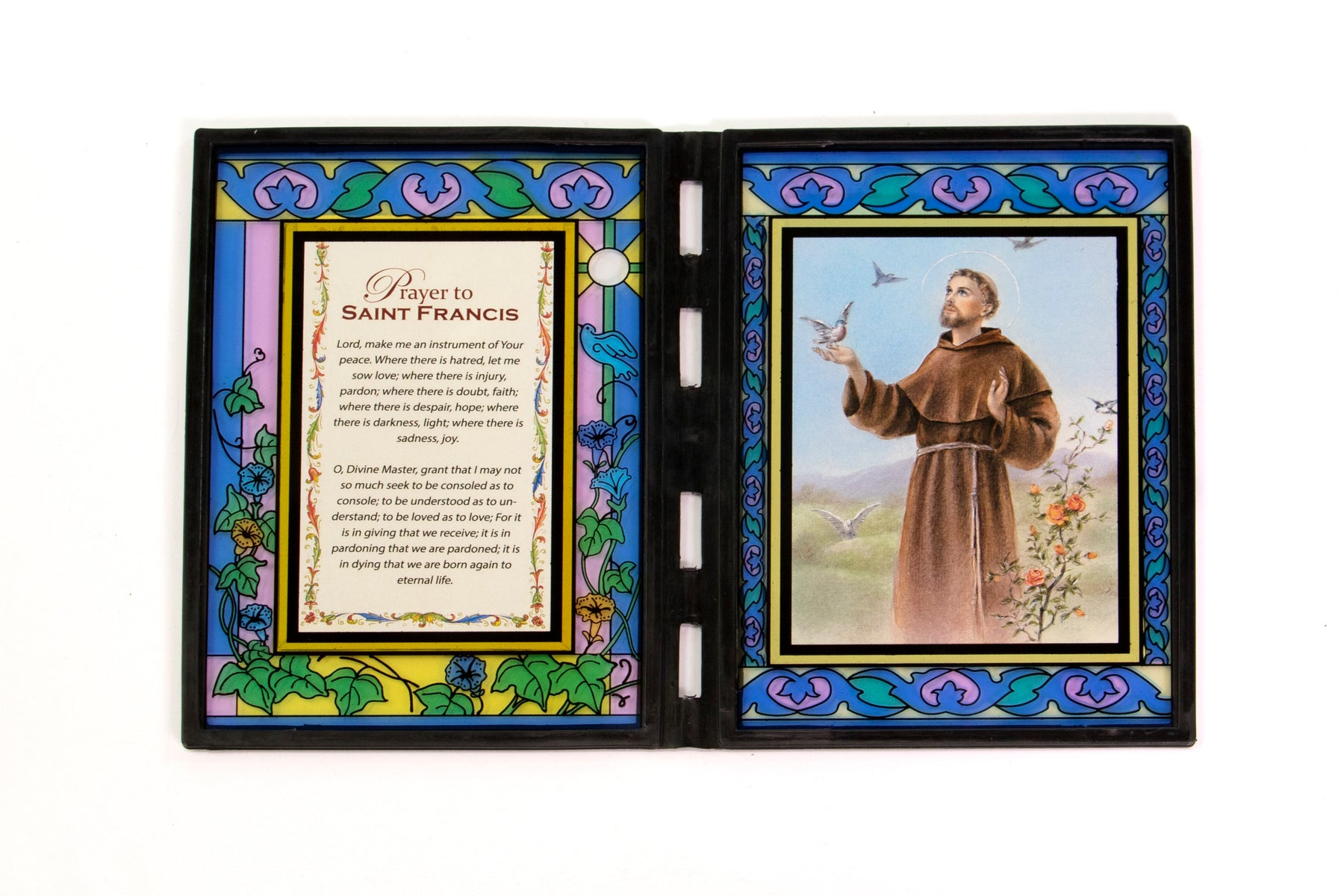 St. Francis Stained Glass Plaque
