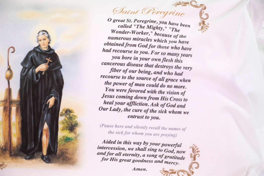St. Peregine Laziosi Pillow Case - English Prayer