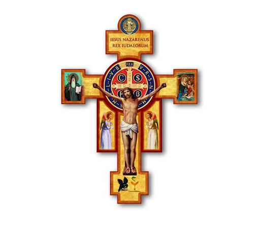St. Benedict Wall Cross & Crucifix 9""
