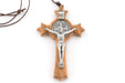 "St. Benedict 3"" Olive Wood Cross"