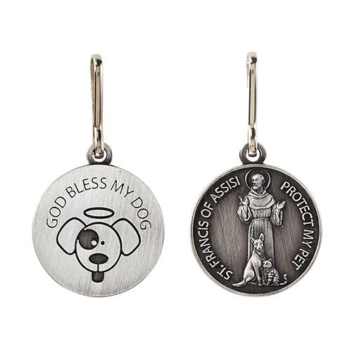 St. Francis 'God Bless My Dog' Pet Medal