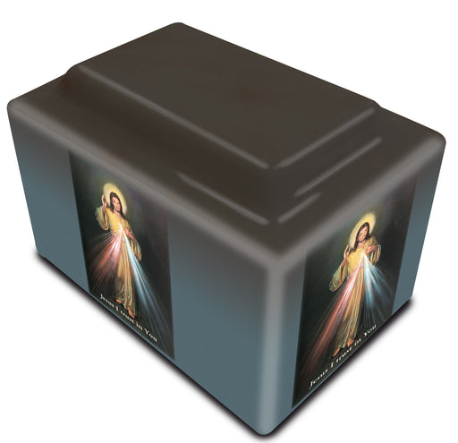 Divine Mercy English Cultured Marble URN