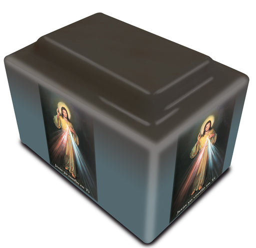 Divine Mercy Spanish Cultured Marble URN