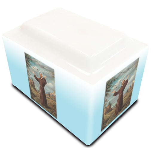 St. Francis of Assisi Cultured Marble URN