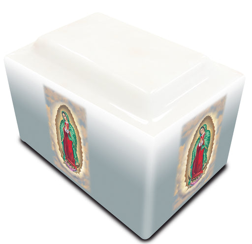 Our Lady of Guadalupe Cultured Marble URN