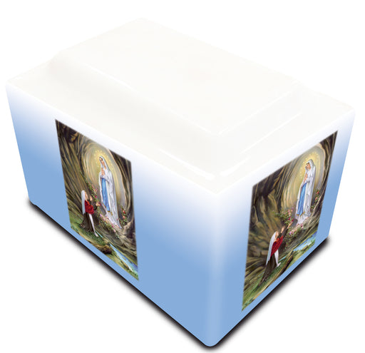 Our Lady of Lourdes Cultured Marble URN