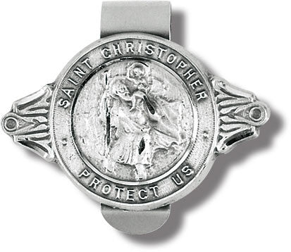 Image of ST CHRISTOPHER PROTECT US VISOR