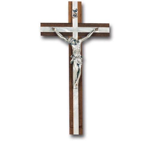 Mother of Pearl Inlay Wall Cross & Crucifix 10""