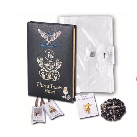 Boy's First Communion Blessed Trinity 5 Piece Gift Set