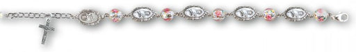 8mm Sterling St. Therese Rosary Bracelet