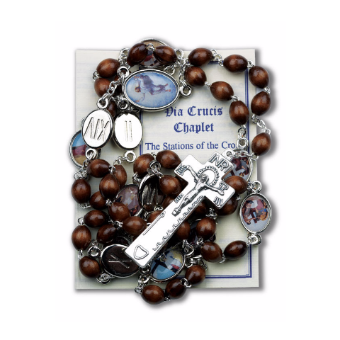 Stations of the Cross Brown Wood Chaplet
