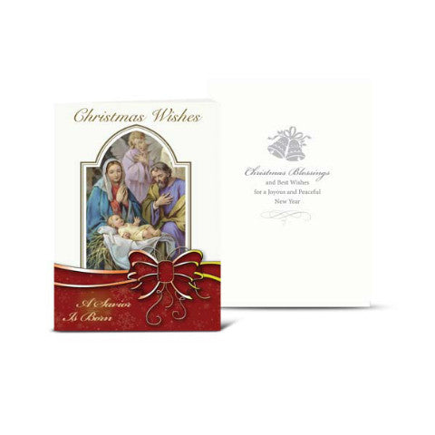 NATIVITY WITH ANGELS CHRISTMAS CARD