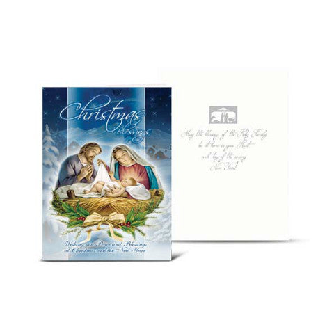 CHRISTMAS NATIVITY SCENE CHRISTMAS CARD