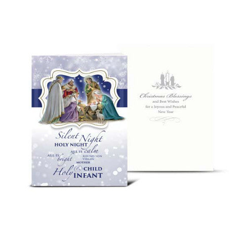 NATIVITY WITH MAGI CHRISTMAS CARD