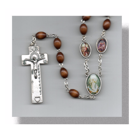 Stations Of The Cross Cocoa Brown Oval Color Rosary