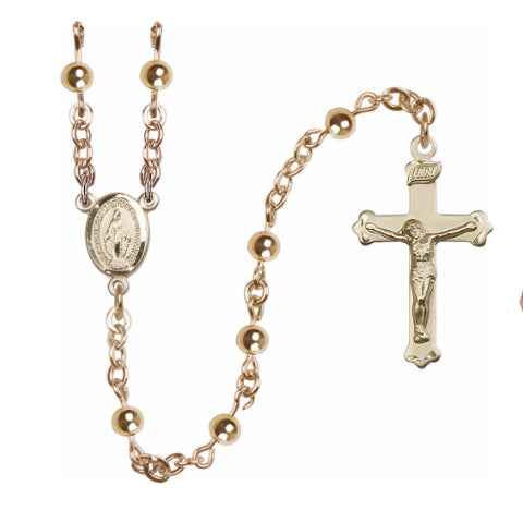 14Kt Gold Filled Rosary - Faux Pearl