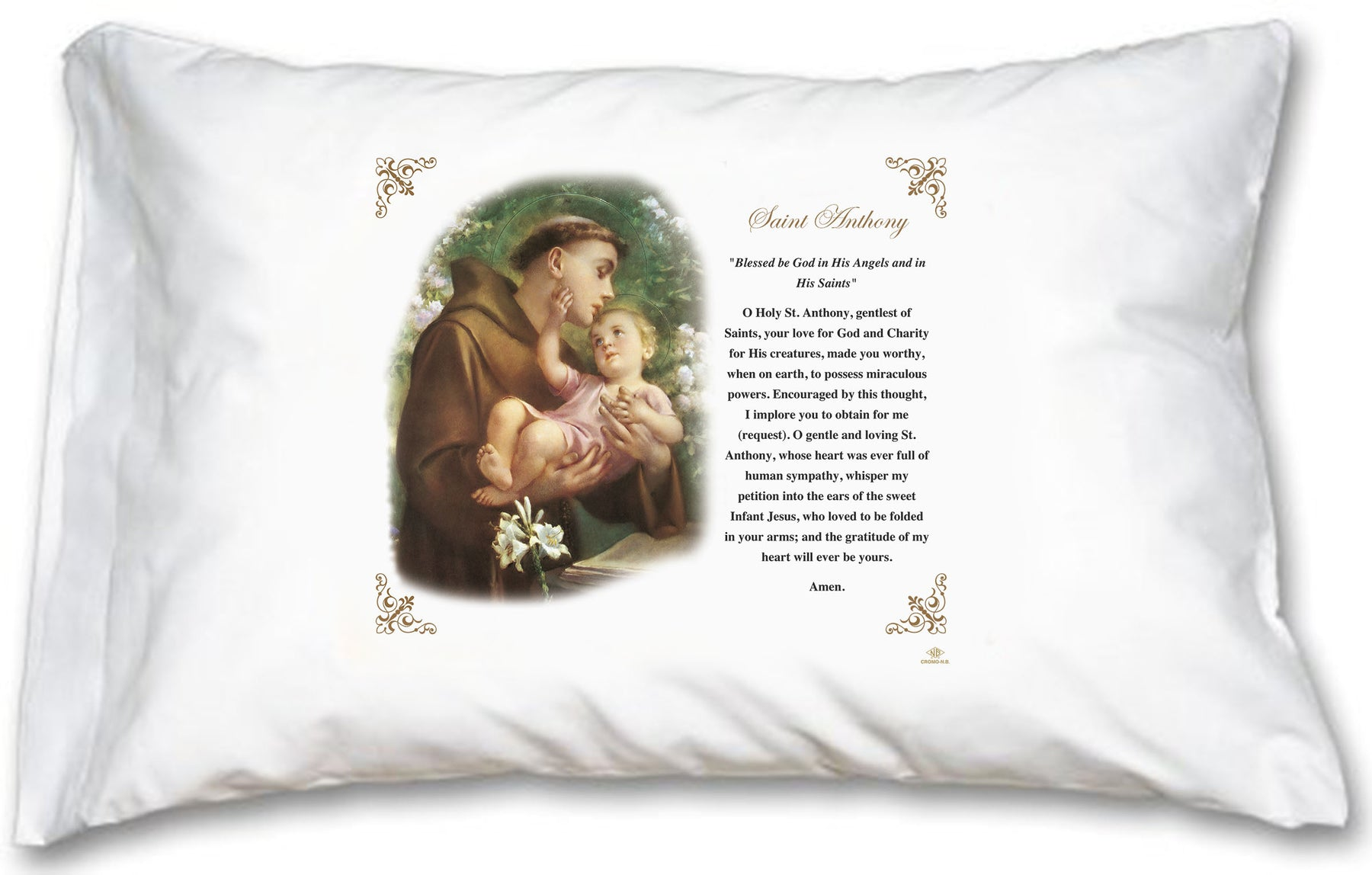 St Anthony Pillow Case - English Prayer