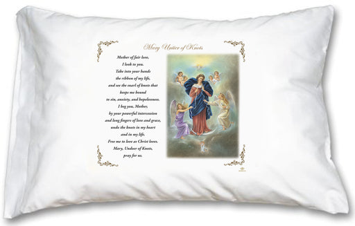 Mary Untier of Knots Pillow Case - English Prayer