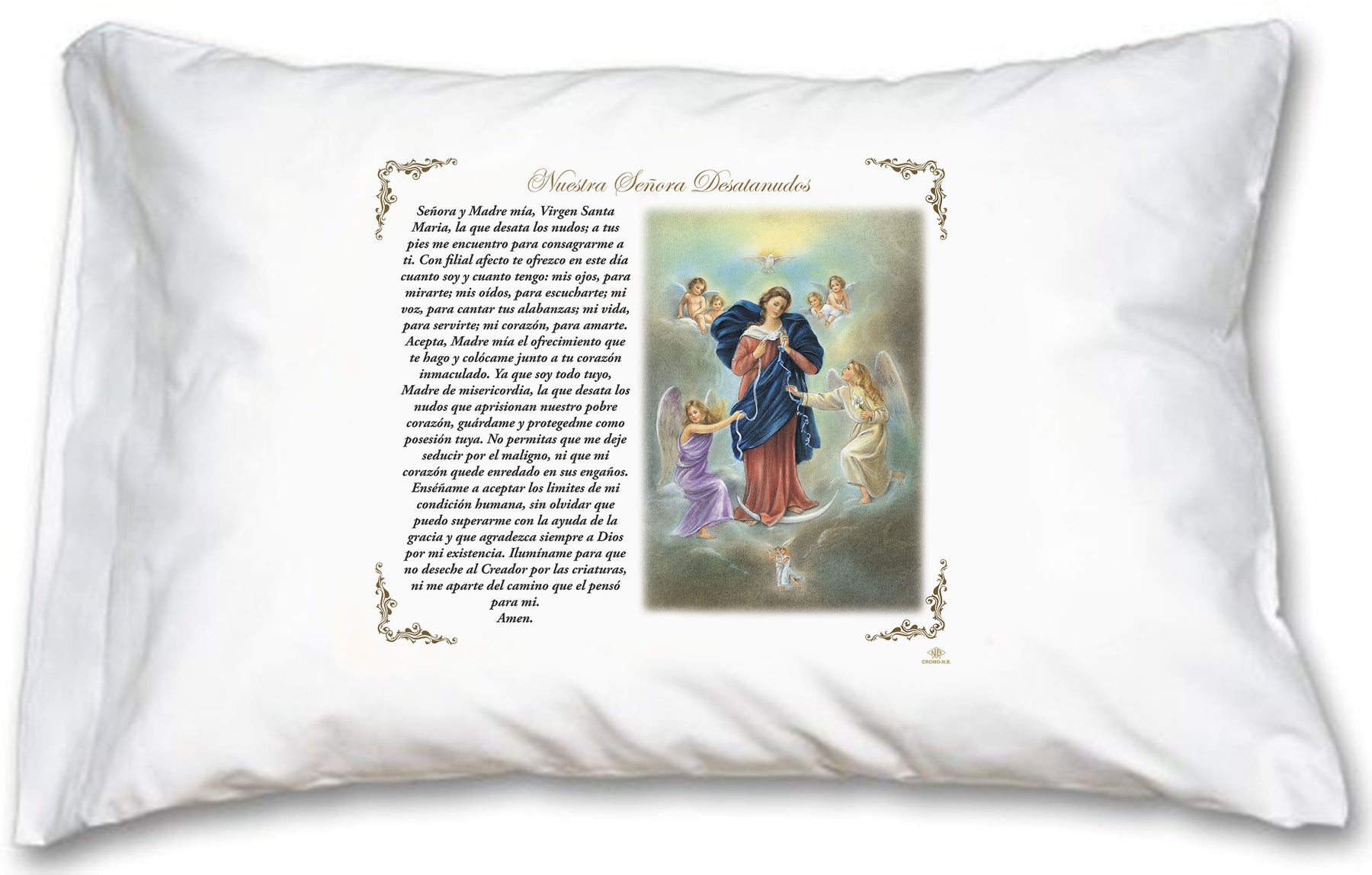 Mary Untier of Knots Pillow Case - Spanish Prayer