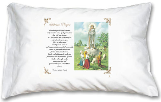 Our Lady of Fatima Pillow Case - English Prayer