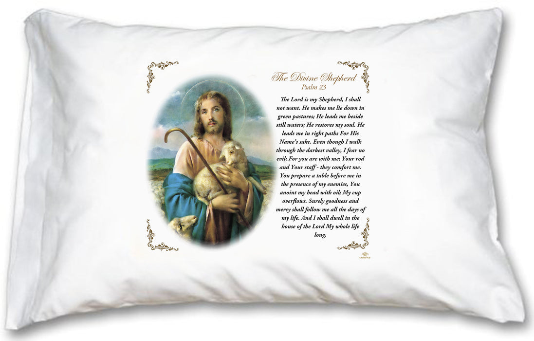 Good Shepherd Pillow Case - English Prayer