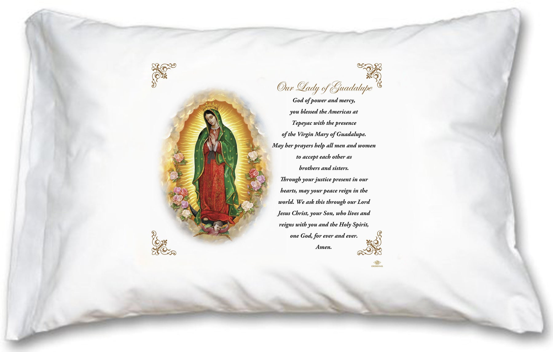 Our Lady of Guadalupe Pillow Case - English Prayer