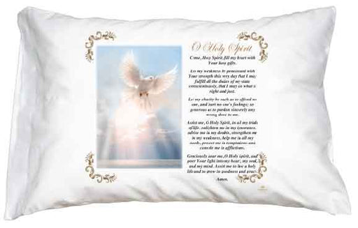 Holy Spirit - Oh Holy Spirit Pillow Case - English Prayer