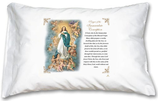 Immaculate Conception Pillow Case - English Prayer