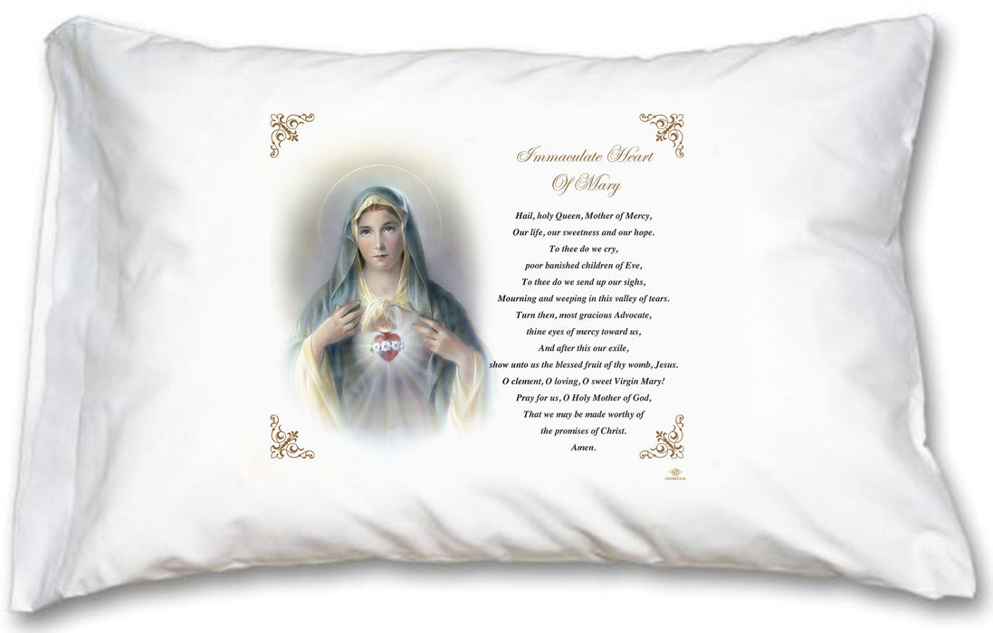 Immaculate Heart of Mary Pillow Case - English Prayer