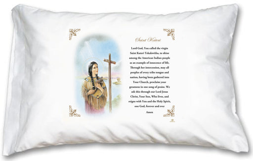 St Kateri Pillow Case - English Prayer