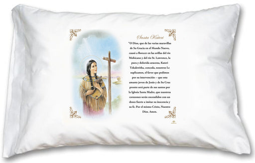 St Kateri Pillow Case - Spanish Prayer