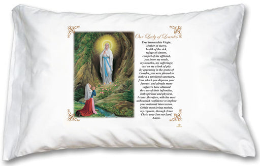 Our Lady of Lourdes Pillow Case - English Prayer