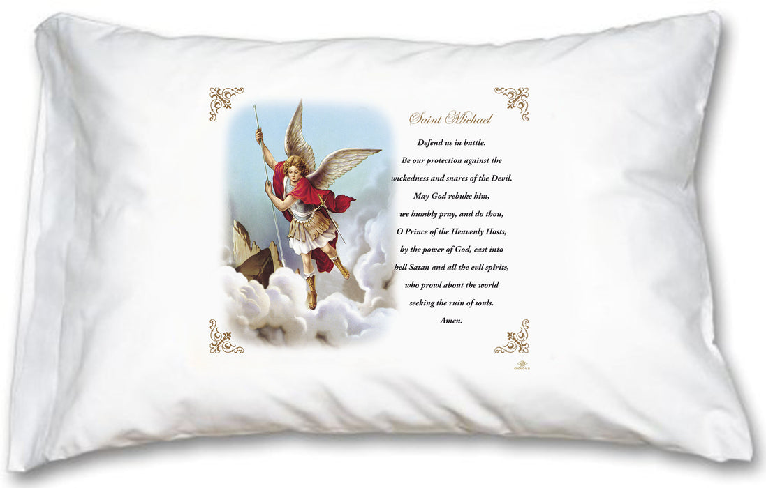 St Michael Pillow Case - English Prayer