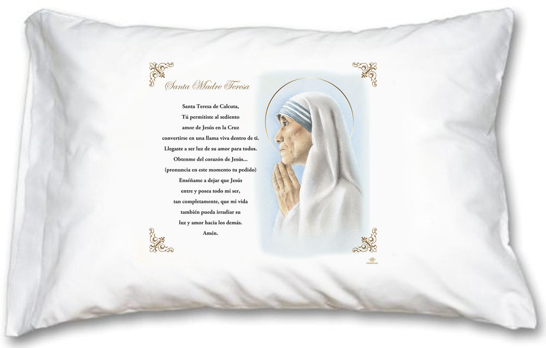 St Mother Teresa Pillow Case - Spanish Prayer