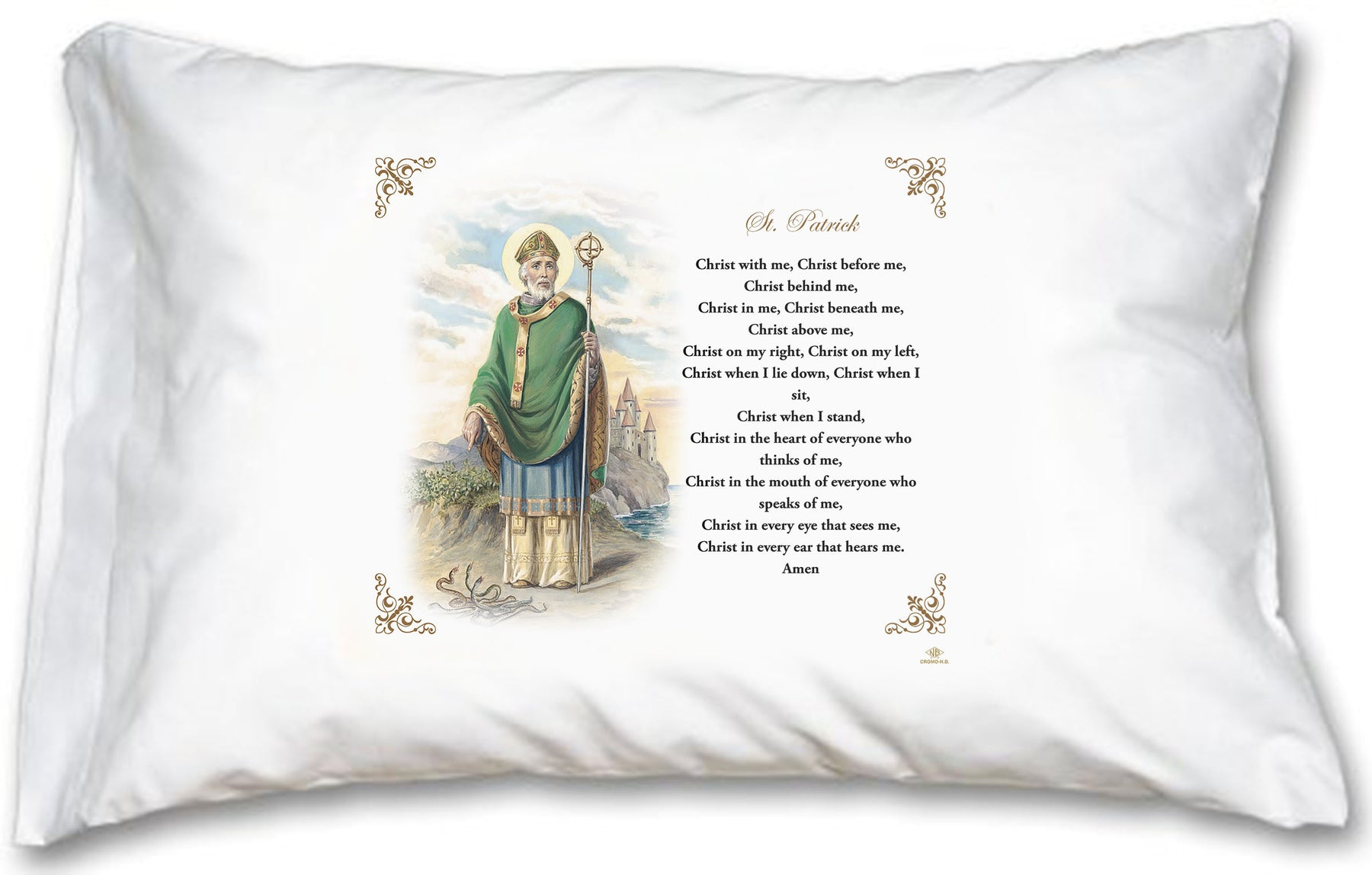 St Patrick Pillow Case - English Prayer