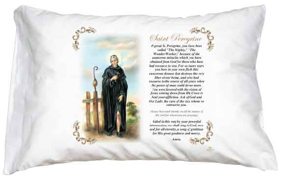 St Peregine Pillow Case - English Prayer