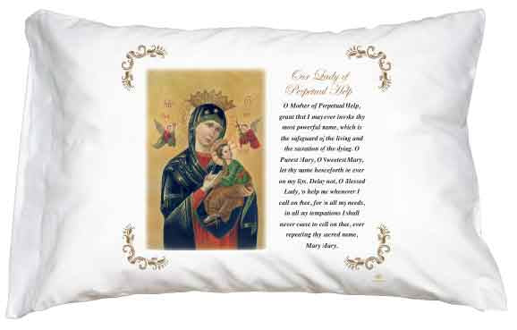 Perpetual Help Pillow Case - English Prayer