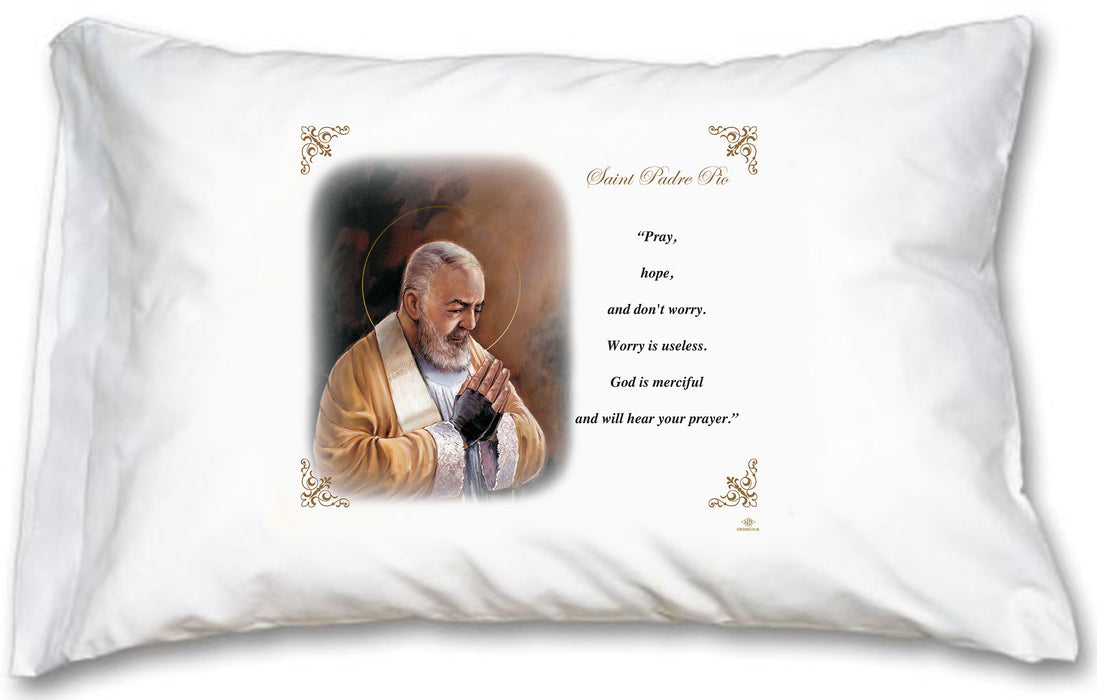 St Pio Pillow Case - English Prayer