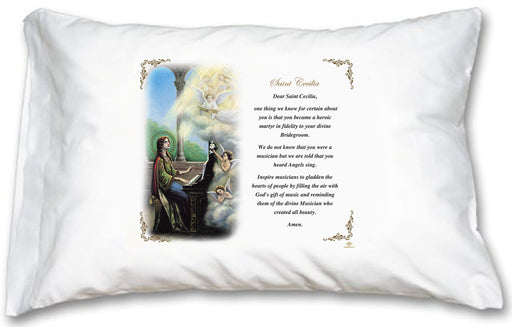 St Cecilia Pillow Case - English Prayer