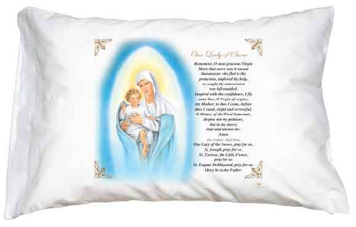 Our Lady of Snow Pillow Case - English  Prayer
