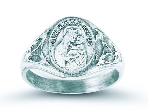 silver_our_lady_of_mount_carmel_ring_sacred_heart_