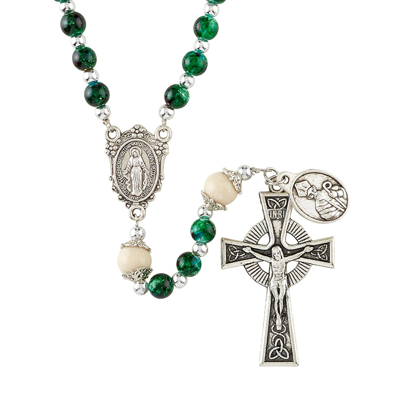 St. Patrick Marbled Rosary