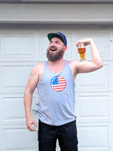Load image into Gallery viewer, Old Glory Crown Cap Tank Top - Homebrewsy.com