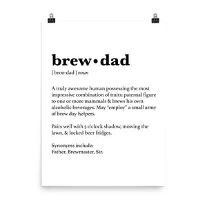 Brew Dad Poster - Homebrewsy.com