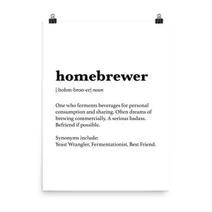 Homebrewer Poster - Homebrewsy.com